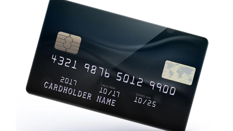 黒色のクレジットカードの写真